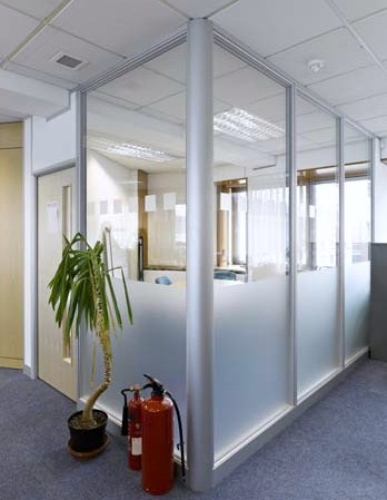 Double-Glazed Office Partition Installed in London EC1. Fire & Sound System