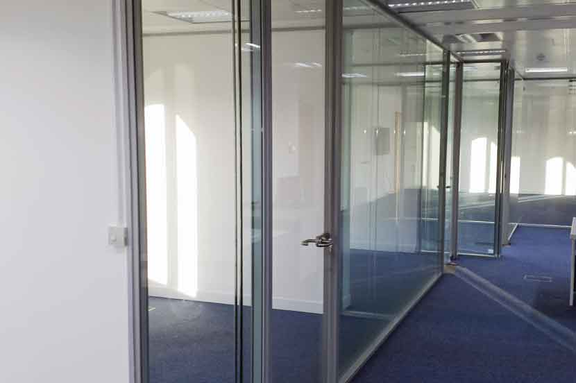 Double Glazed partition walls and doors in office in St Katherines Docks
