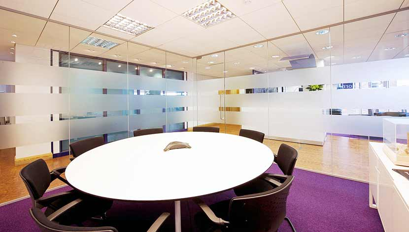 Meeting Room with round table and chairs