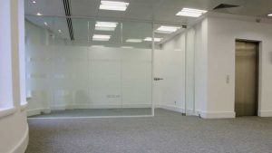 Toughened Glass Double Glazed Partition Wall installation London Mayfair