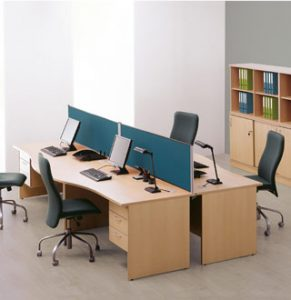 Low cost wave desks with panel-end design