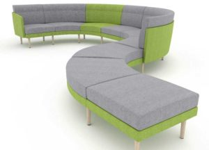Office Breakout Soft Seating Bench Configuration