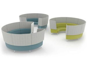 Circular High Backed Soft Seating Pods