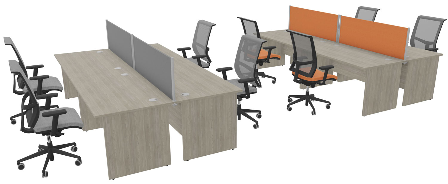 8 panel-end desks and 8 task chairs for £2,200 + VAT