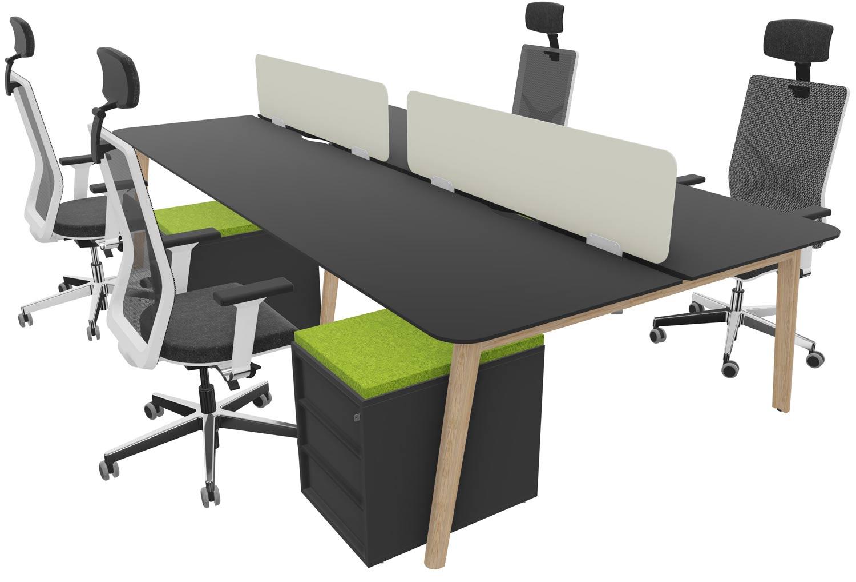 Black HPL laminate Desk and Mesh Chair package for £4000 + VAT