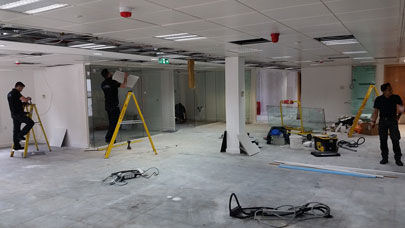 Office Fitout in progress in Moorgate London EC2